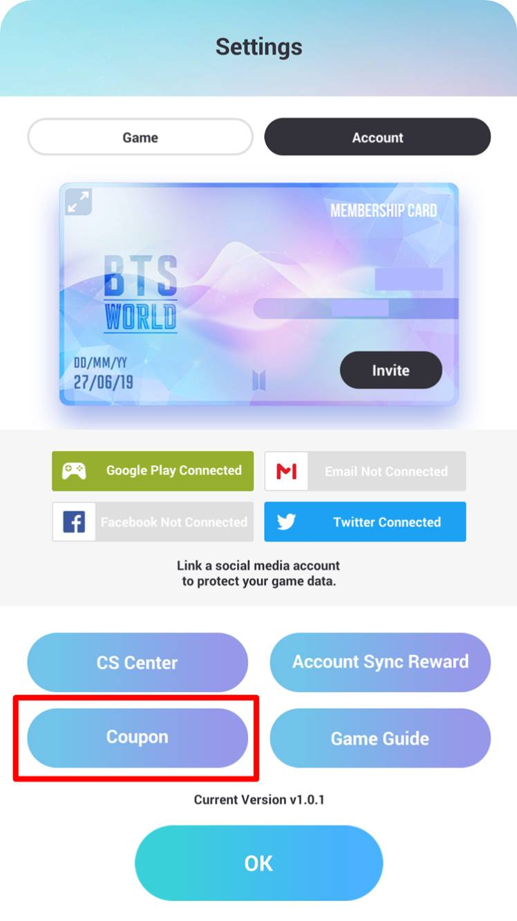 English How To Insert Coupon Bts World