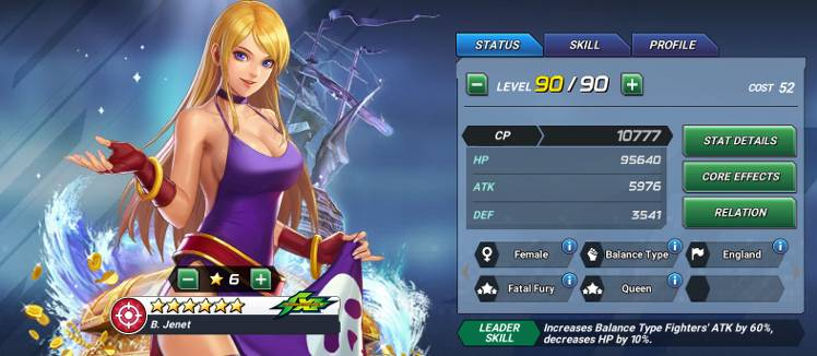 New Fighter Bonne Analysis Jenet The King Of Fighters Allstar Official Community She made her debut in garou: netmarble forums