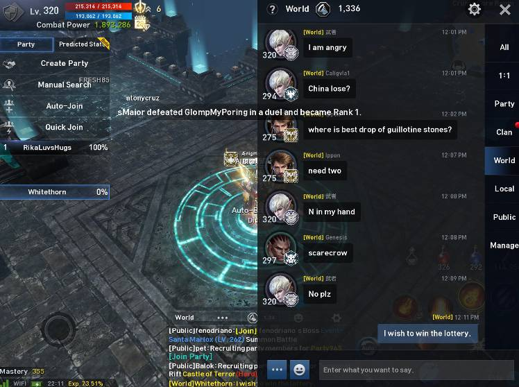 WISH] I wish to win the lottery  - Lineage 2: Revolution
