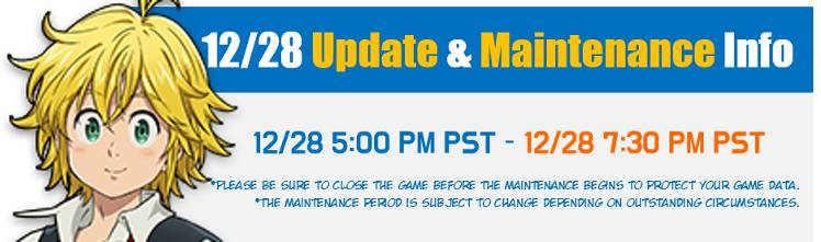 12 28 Update Preview And Maintenance Notice Updated 12 28 7 58 Pm Pst The Seven Deadly Sins Grand Cross
